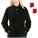ActiVHeat Women's RECHARGEABLE Heated Windproof Fleece Jacket - ALL DAY MAX Package
