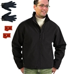 ActiVHeat Men's Battery Heated Insulated Soft Shell  Jacket + Weightless Glove Liner  Bundle