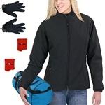 ActiVHeat Womens Heated  Soft-Shell Jacket & heated glove liners