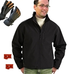 ActiVHeat Men's Battery Heated Insulated Soft Shell  Jacket + Weightless Glove Bundle