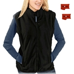ActiVHeat Women's Rechargeable Heated Windproof Fleece Vest - Ultimate Bundle