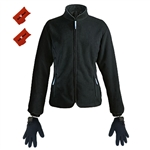 ActiVHeat Women's Battery Heated Windproof Fleece Jacket + Weightless Glove Liners