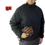 ActiVHeat Men's Heated Insulated Soft-Shell Jacket with Zip-Off Sleeves  - Bundle