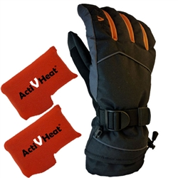 ActiVHeat WX4 Weightless Rechargeable Battery Heated Crossover Men's Glove Ultimate Bundle