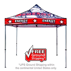 Full Color 10x10 -Aluminum- Canopy Tent