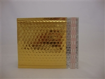 "50 13.75"" x 11"" gold metallic bubble mailer"