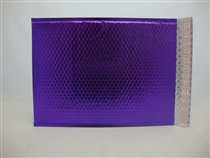 "250 7"" x 11"" purple metallic bubble mailer"