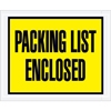 "4.5"" x 5.5"" Full Face Packing List Yellow"