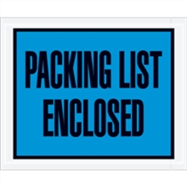 "4.5"" x 5.5"" Full Face Packing List Blue"
