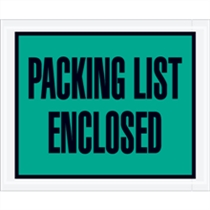 "7.5""x 5.5"" Full Face Packing List Green"