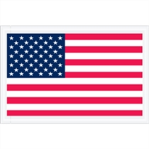"5.25""x 8"" Full Face USA Flag Packing List"