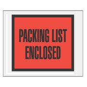"4.5"" x 5.5"" Full Face Packing List Red"