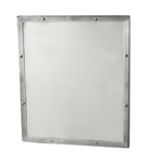 "Framed Security Mirror- 12"" by 14"" Seamless Frame with Exposed Mount"