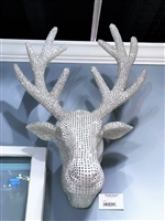 December Diamonds Large Deer Head Silver Antlers