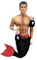 December Diamonds TKO Merman with Boxing Gloves Christmas Ornamen