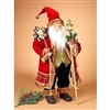"GERSON 32"" High Standing Santa with Presents and Staff"