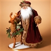 GERSON 24''H POLYESTER OLD TIME SANTA WITH 20'' DEER