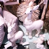 "GERSON 20.5"" Foam Holiday White Deer w/ Antlers (TALLER ONE ON PHOTO) GER2279230"