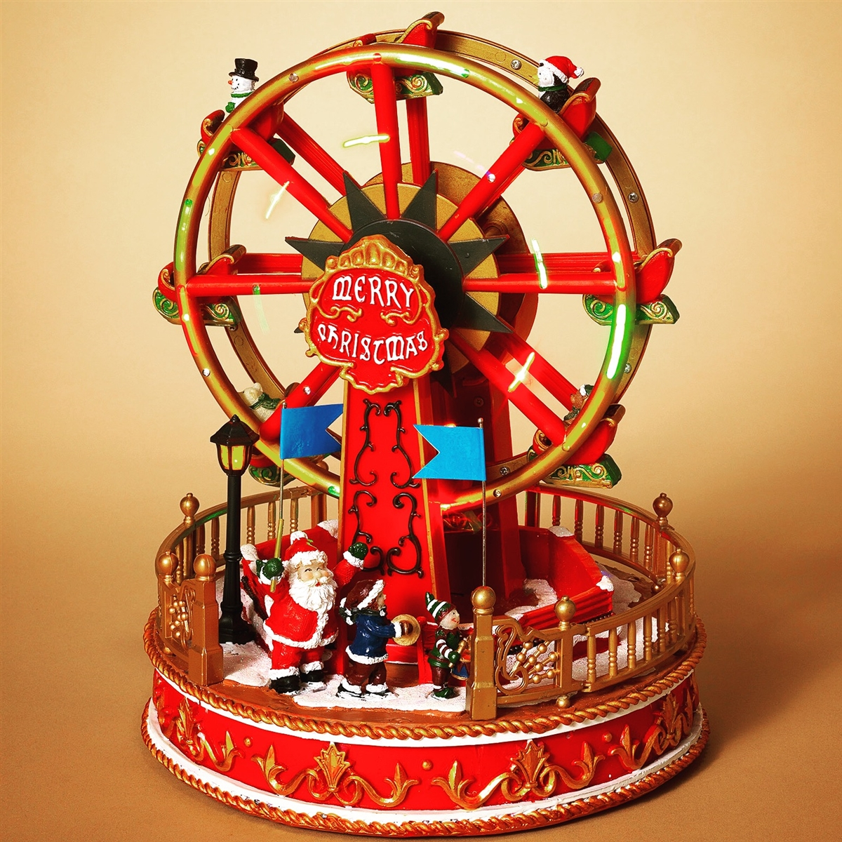 Gerson electric lighted moving ferris wheel w music for Mr price home christmas decor