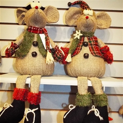 Hanna's Scarved Mouse Sitter (Set of 2)