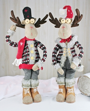 Hanna's Snowflake Moose Stander 30'' (Set of 2)