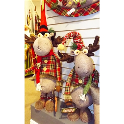 Hanna's Holly Plaid Moose Stretch Leg (Set of 2)
