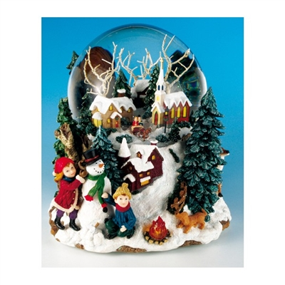 MUSICBOX KINGDOM WINTER LANDSCAPE SNOW GLOBE