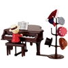MR CHRISTMAS Gold Label Teddy Takes Requests with Baby Grand Piano Music Box