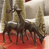 "RAZ IMPORTS 12"" DEER MOHOGANY (Set of 2)"