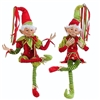 "RAZ IMPORTS 30"" POSABLE ELF RED/GREEN (SET OF 2)"