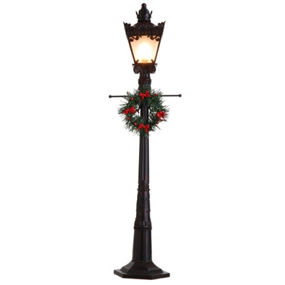 "RAZ IMPORTS 38"" LIGHTED LAMP POST  (BLACK)"