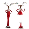 "RAZ IMPORTS 26"" LIGHTED STANDING DEER COUPLE"