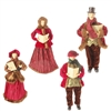 "RAZ IMPORTS 17.5"" CAROLER  (Set of 4) MERRY MISLETOE COLLECTION OUT OF STOCK!"