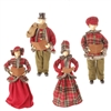"RAZ IMPORTS ASPEN SWEATER COLLECTION 18"" CAROLER (Set of 4)"
