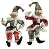 "RAZ IMPORTS 20"" POSABLE ELF (Set of 2) Silver Bells Collection SOLD OUT!"