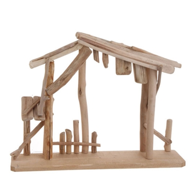 "RAZ IMPORTS 20.5"" WOODEN CRECHE MADE OF DRIFTWOOD FOR YOUR NATIVITY"
