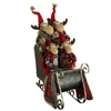 "RAZ IMPORTS 24"" MOOSE FAMILY IN SLEIGH SOLD OUT FOR THE SEASON!"