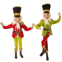 "20"" POSABLE ELF ORNAMENT (Set of 2) Santa'S Holiday Collection"