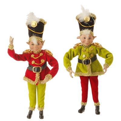 "RAZ IMPORTS 10"" POSABLE ELF ORNAMENT (SET OF 2) Santa'S Holiday Collection"