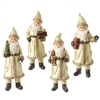 "RAZ IMPORTS 5"" SANTA ORNAMENT (SET OF 4)"