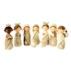 Raz Imports Silver Tree 4.5'' 9 Piece Resin Nativity Set