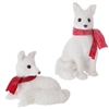 RAZ IMPORTS 12.5'' WHITE FOX (SET OF 2)