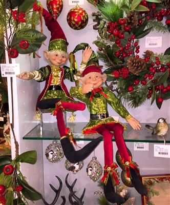 "RAZ IMPORTS 30"" POSABLE ELF (Set of 2)"