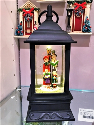 "Raz Imports 9.5"" CAROLER LIGHTED WATER LANTERN"