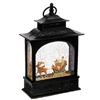 "Raz Imports 11"" Animals in Sleigh Lighted Water Lantern (Black) SOLD OUT NOT AVAILABLE"
