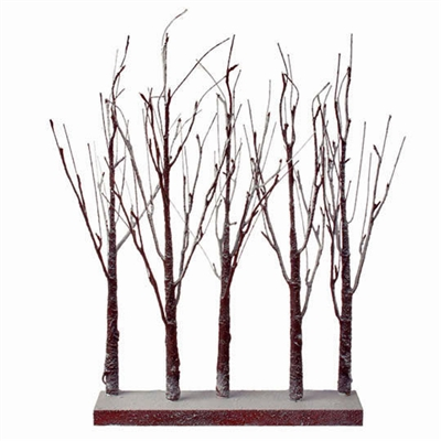 "RAZ IMPORTS 30"" LIGHTED SNOWY GROVE  OUT OF STOCK"