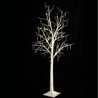 "RAZ IMPORTS 48"" LIGHTED ICICLE TREE WHITE"