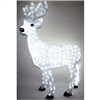 Season's Design 42'' Acrylic Christmas White Deer W/Led Lights