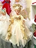 Season's design 24'' LED Christmas Ivory & Gold F/O Motion Musical Angel
