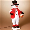 STERLING 24'' A/C ANIMATED SNOWMAN WITH BIRD
